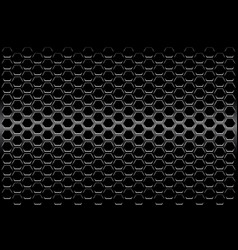 Abstract black metallic hexagon mesh pattern vector