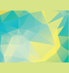 abstract yellow green polygon background vector image