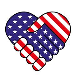 American hand shake vector image