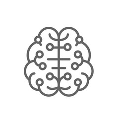 artificial intelligence brain connected to vector image