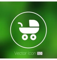 baby stroller icon maternity wheel vector image