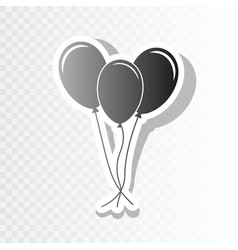 balloons set sign new year blackish icon vector image
