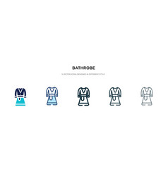 bathrobe icon in different style two colored vector image