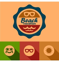 beach vacation labels vector image