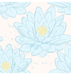 Beautiful seamless pattern with lotus flowers vector