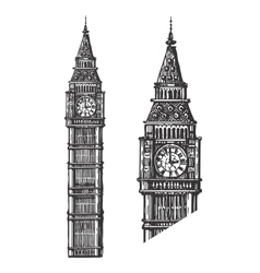 Big Ben logo design template England or vector image