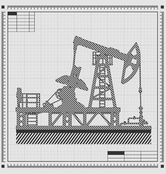 blueprint of oil pump vector image