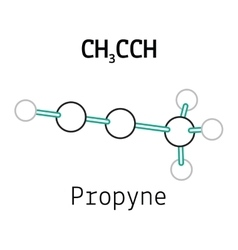 CH3CCH propyne molecule vector image