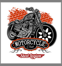 chopper motorcycle typography - t-shirt vector image