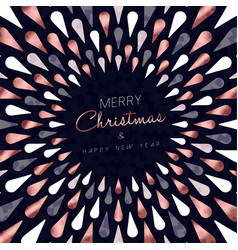 Christmas and new year copper greeting card vector
