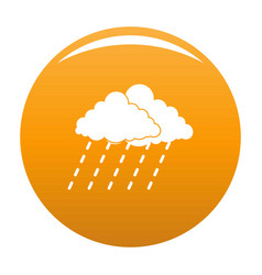 cloud rain storm icon orange vector image