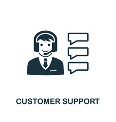 customer support icon symbol creative sign vector image
