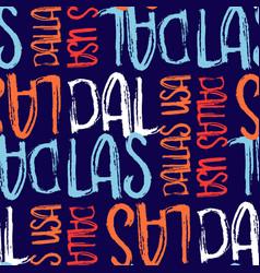 Dallas usa seamless pattern vector