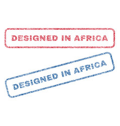 designed in africa textile stamps vector image