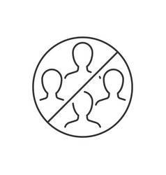 Do not gather in groups linear icon vector