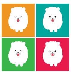 Dog Pomeranian vector