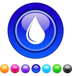 Drop circle button vector image