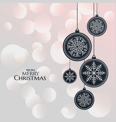 Elegant hanging lamps for christmas festival vector