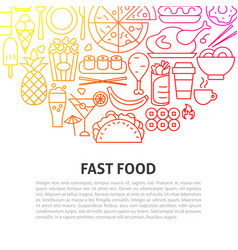 Fast food line concept vector