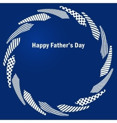 Fathers day blue frame with ties vector