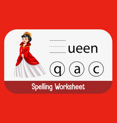 Find missing letter with queen vector