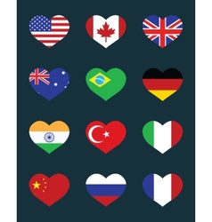 flags of States vector image