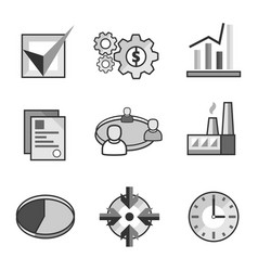 Flat business web icons vector
