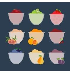 Fruit berry jam vector