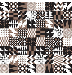 Geometric tiles linear seamless pattern vector