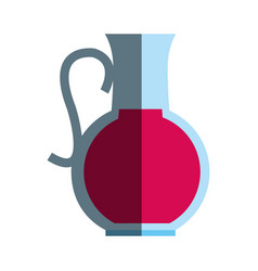 Glass jug icon image vector