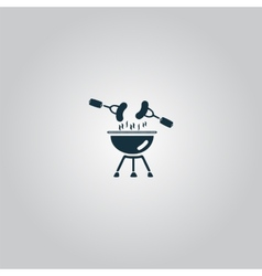 Grill Or Barbecue Icon vector image