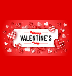 happy valentines day holiday vector image