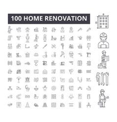Home renovation editable line icons 100 vector