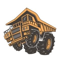 Huge aggressive construction truck vector