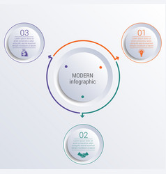 infographic diagram with 3 options circles vector image