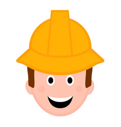isolated male engineer avatar vector image