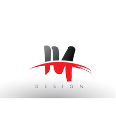 iy i y brush logo letters with red and black vector image