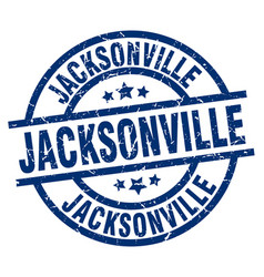 Jacksonville blue round grunge stamp vector
