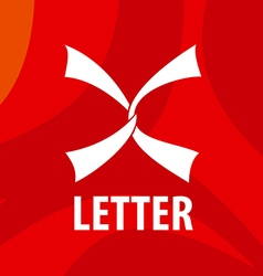 logo white ribbons in the form of the letter X vector image