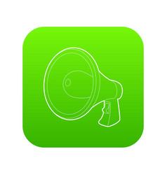 Loudspeaker icon green vector