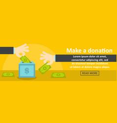 make a donation banner horizontal concept vector image