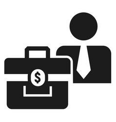 man bribery money bag icon simple style vector image
