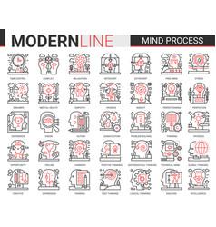 mind process complex line icon vector image