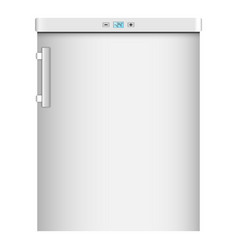 Modern home refrigerator icon realistic style vector