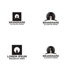 moon logo design vector image