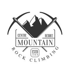 mountain rock climbing centre resort logo vector image