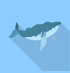 old whale icon flat style vector image