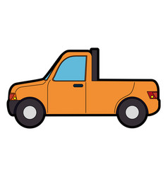 Pickup vehicle isolated vector