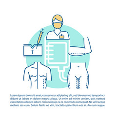 Plastic surgery center procedures article page vector