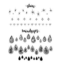 raindrops and stars vector image